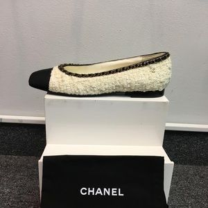 Chanel White with Gold chain